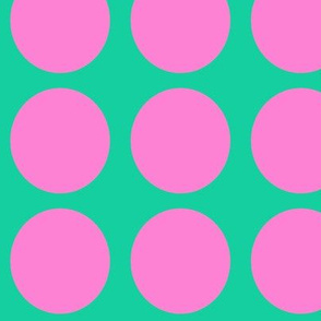 Purple Dots on Greenish Blue Large - Spring Dots