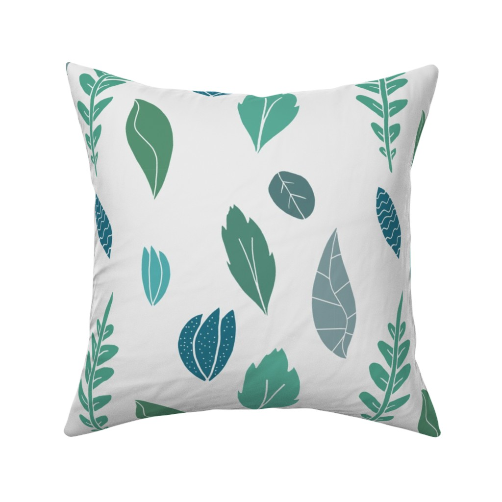 Catalan Throw Pillow featuring Whimsical Leaves by homemadebycarmona