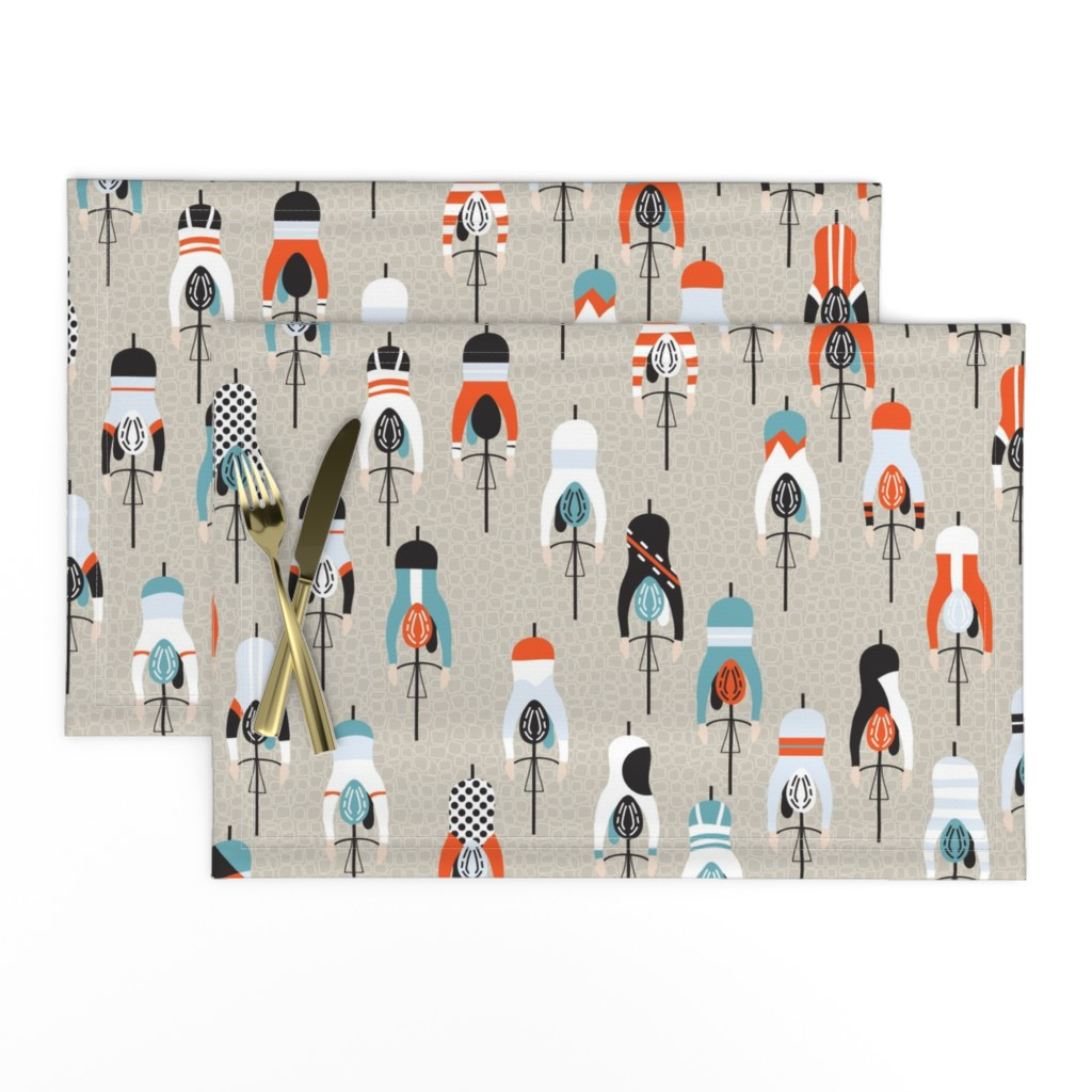 Lamona Cloth Placemats featuring le tour by booboo_collective