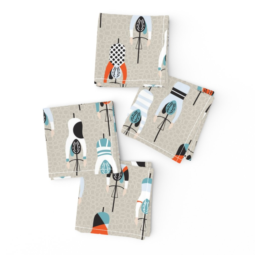 Frizzle Cocktail Napkins featuring le tour by booboo_collective