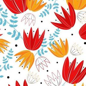 Kaleidoscope of tulips