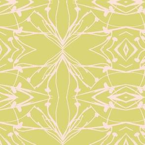 Hawkweed (Pink on Yellow-green)