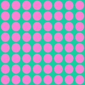 Purple Dots on Greenish Blue Small - Spring Dots