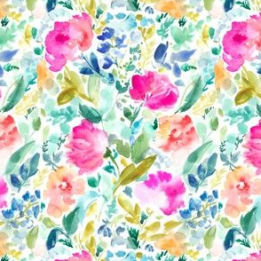 Nabby Tropical Watercolor Flowers