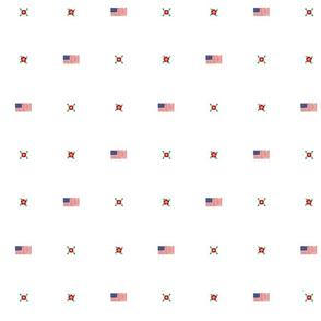 USA Flag and Roses Polka Dot