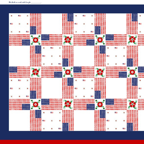USA Flag Wholecloth Quilt