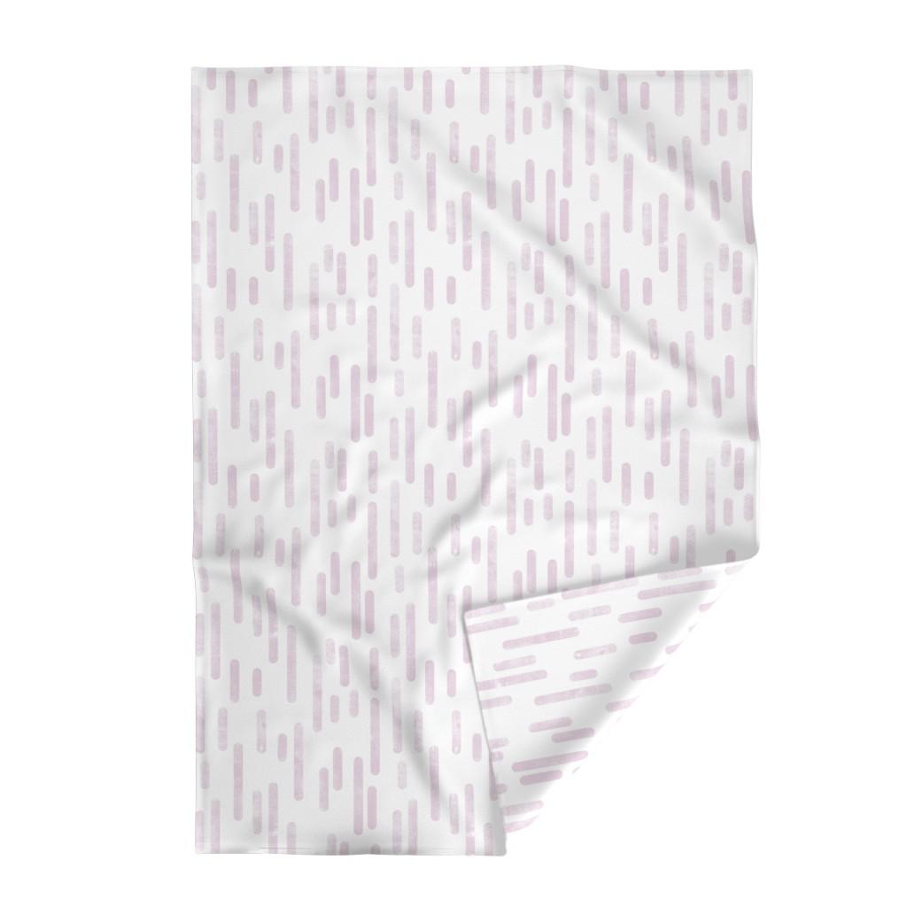 Lakenvelder Throw Blanket featuring Peach Lino Printed Hexagons by itsjensworld
