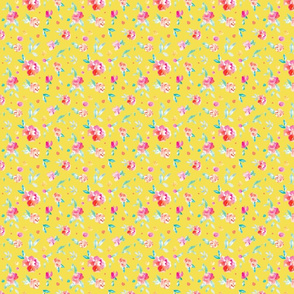 Tropicali Pink Peony on Yellow