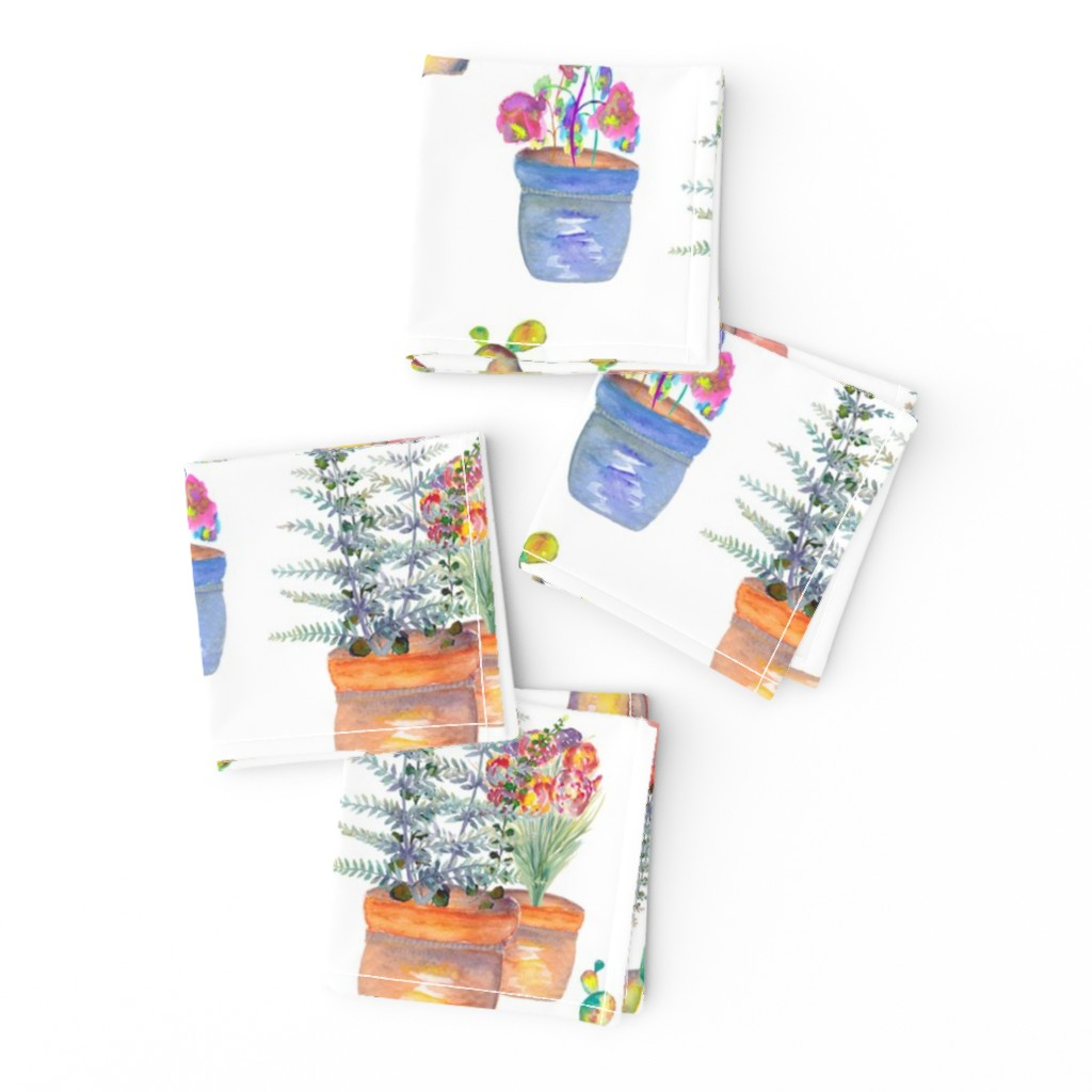 Frizzle Cocktail Napkins featuring WATERCOLOR GARDENING BY PAYSMAGE by paysmage