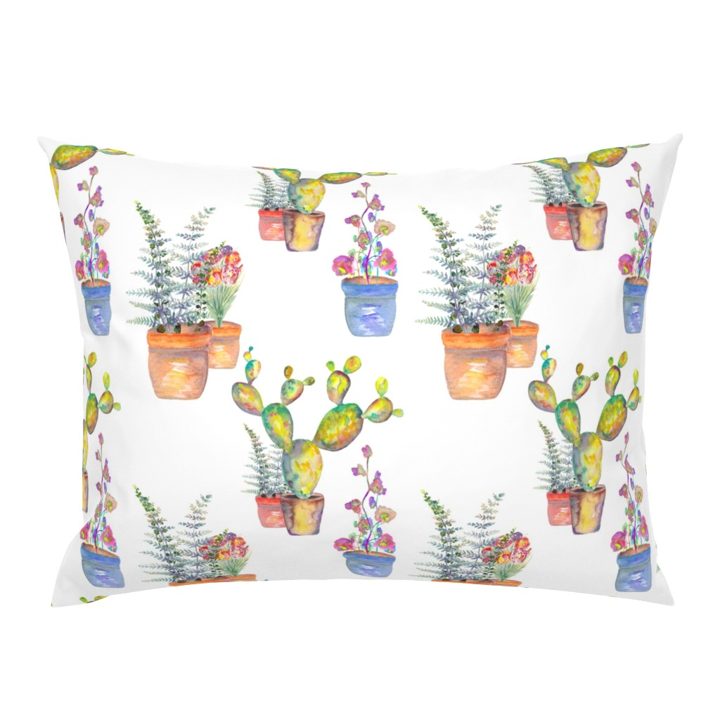 Campine Pillow Sham featuring WATERCOLOR GARDENING BY PAYSMAGE by paysmage