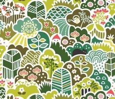Lush Vintage Garden