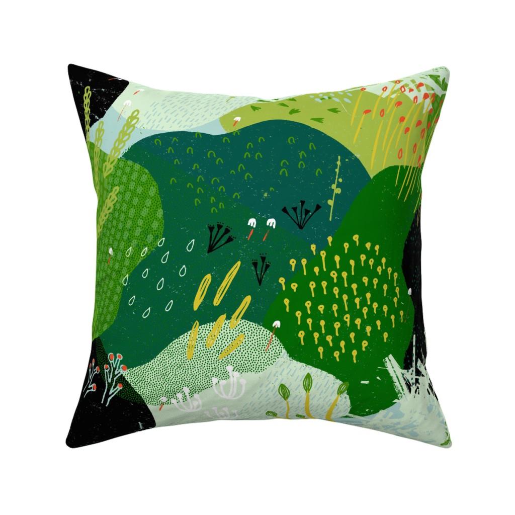 Catalan Throw Pillow featuring Moss Garden M+M Greens by Friztin by friztin