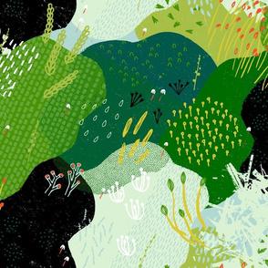 Moss Garden M+M Greens by Friztin