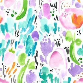 My Secret Garden by Minikuosi - Watercolor Garden Flowers