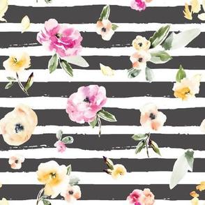 Frida Watercolor Flower Stripe