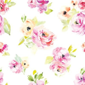 Frida Watercolor Floral Peony