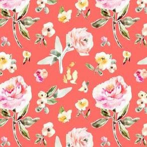 Frida Vintage Floral on Red