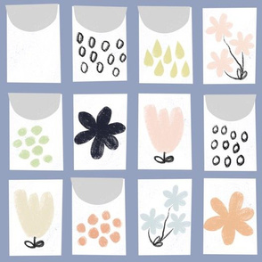 Seed Packet quilt (periwinkle)