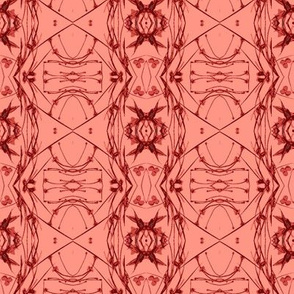 Tic-Tac-Toe (Coral & Red)