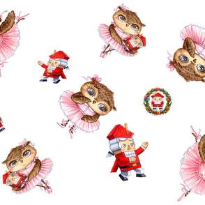 Nutcracker Ballerina Christmas Owl Ballet Inga Paltser