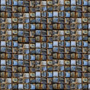 family tiled rust blue gold