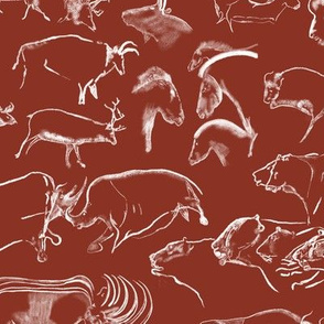 Chauvet Cave Art on Umber // Small