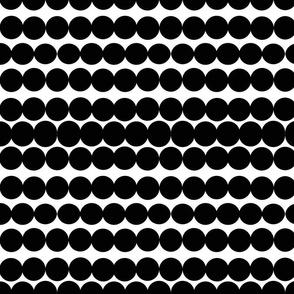 Scandinavian dots black dots black and white circles