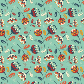 Abstract flowers pattern
