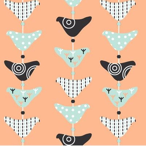 Bird Mobile Baby Pink and Blue