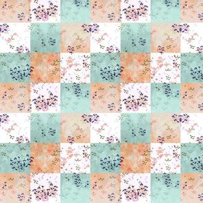 Daydream Pony Flowers Quilt Block