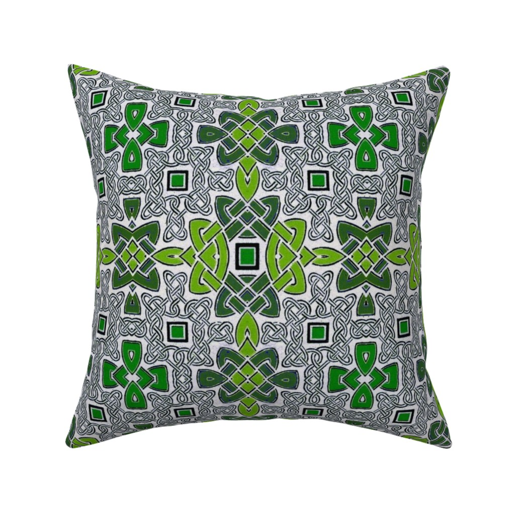 Catalan Throw Pillow featuring celtic 79 by hypersphere