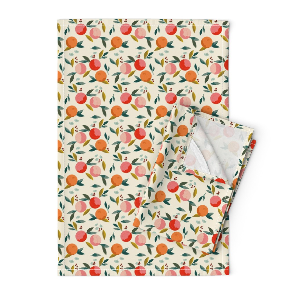 Orpington Tea Towels featuring Painted oranges by adelaidebtq