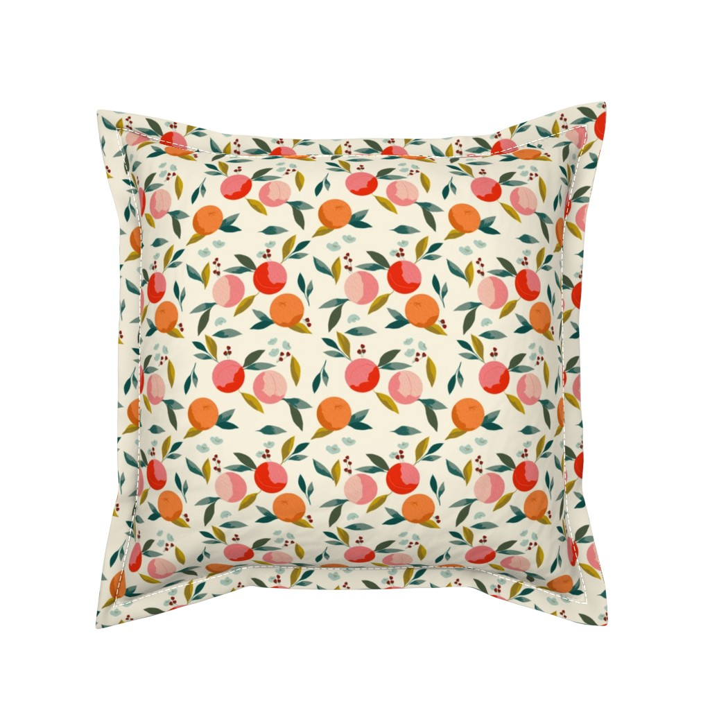 Serama Throw Pillow featuring Painted oranges by adelaidebtq