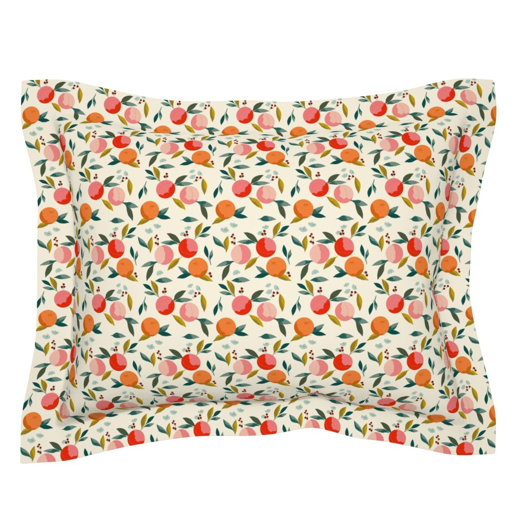 Sebright Pillow Sham featuring Painted oranges by adelaidebtq