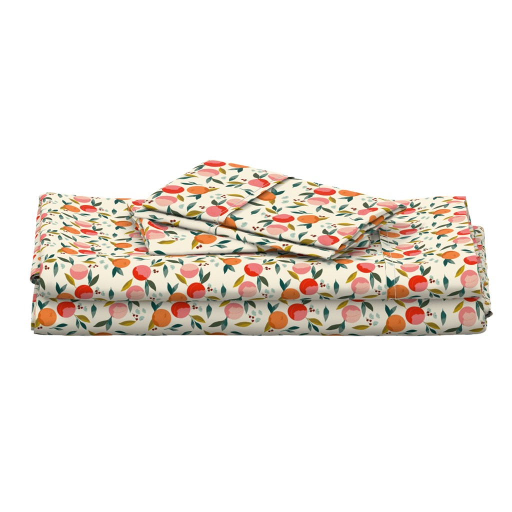 Langshan Full Bed Set featuring Painted oranges by adelaidebtq