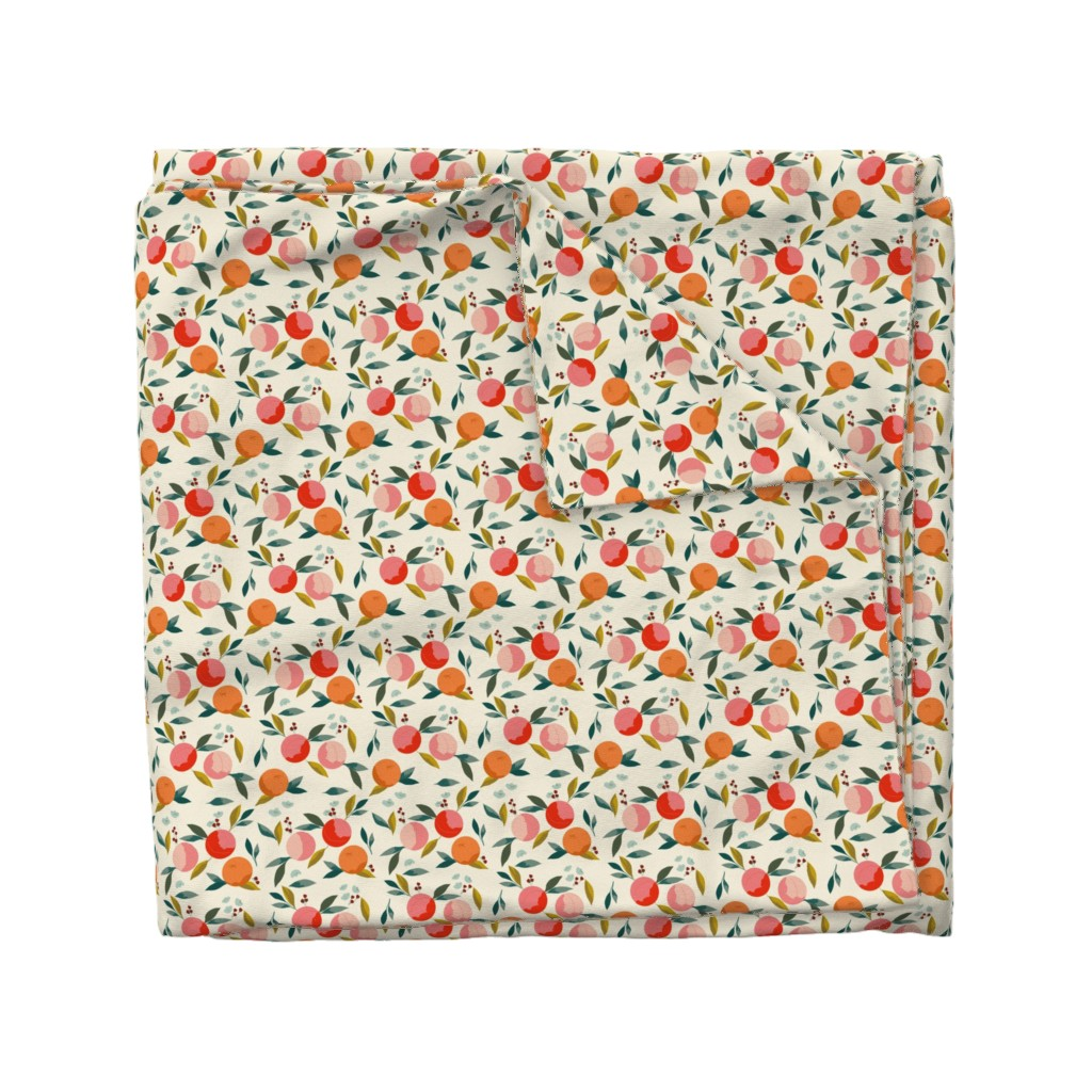Wyandotte Duvet Cover featuring Painted oranges by adelaidebtq