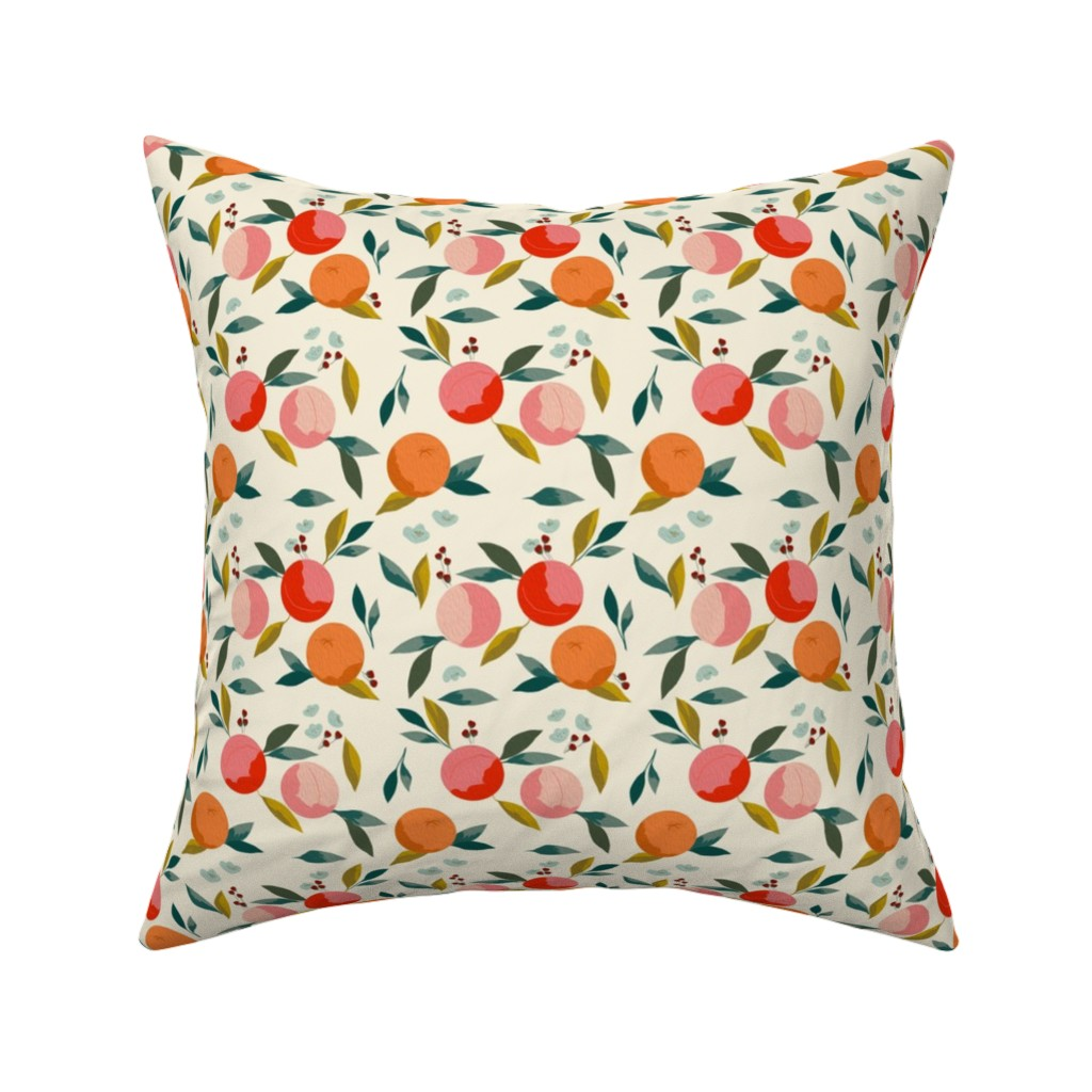 Catalan Throw Pillow featuring Painted oranges by adelaidebtq