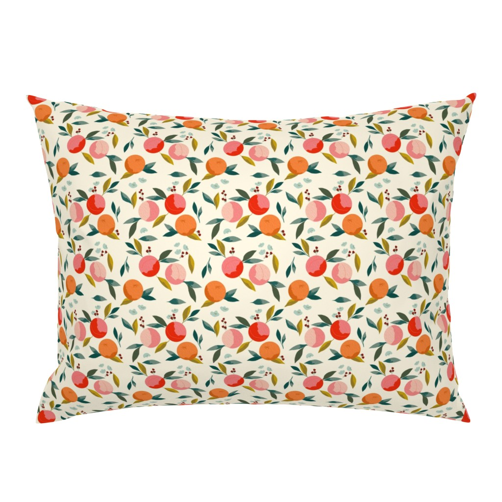 Campine Pillow Sham featuring Painted oranges by adelaidebtq