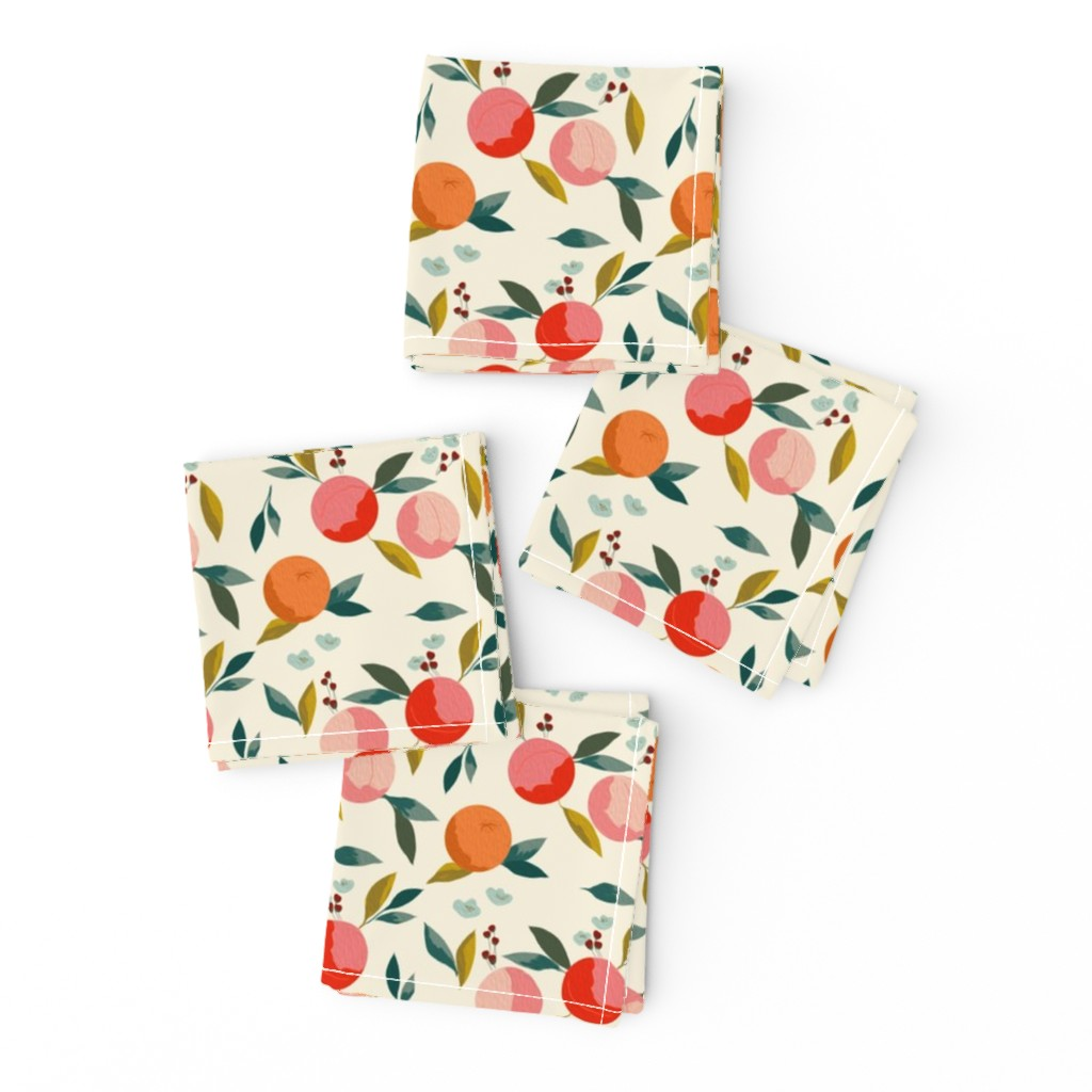 Frizzle Cocktail Napkins featuring Painted oranges by adelaidebtq
