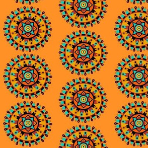 orange southwest mandala