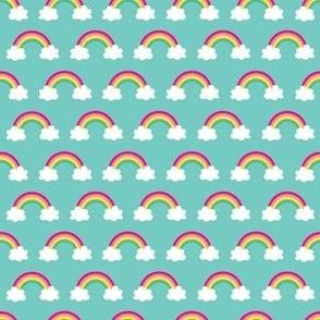 aloha rainbow halfdrop on teal washi