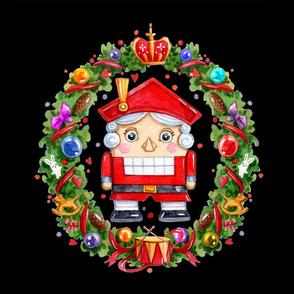 Christmas Nutcracker Wreath Blackpillow