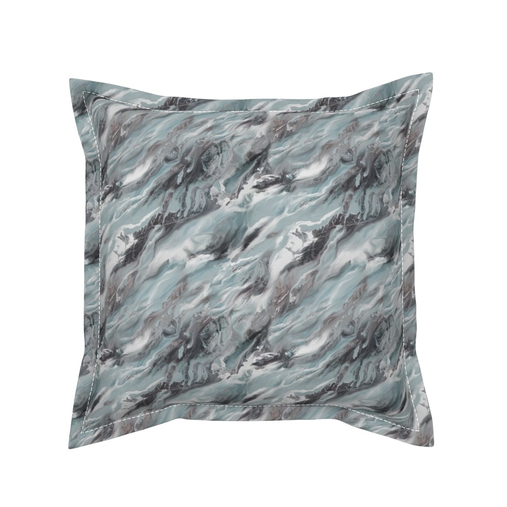 Serama Throw Pillow featuring Earth Matters by artonfabric