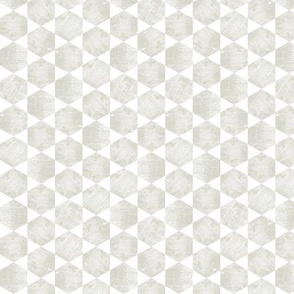 Warm Gray/Beige and White Hexagonal Pattern