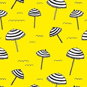 Day at the beach sun screen tropical parasol umbrella sun citrus yellow