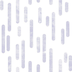 Dusty Purple on White | Large Scale Inky Rounded Lines Pattern