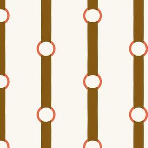 Halter Stripe - Brown, Red, H White