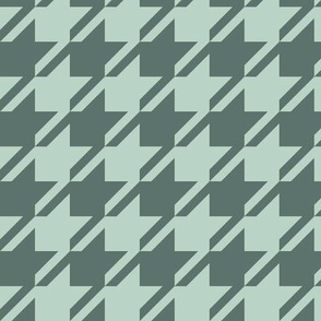 Houndstooth - Teal, Mint