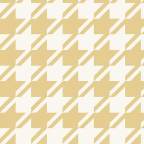 Houndstooth - Straw, H White