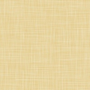 Solid Linen - Straw Yellow